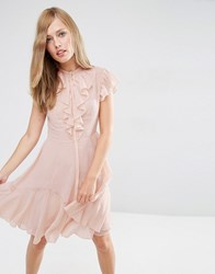 Needle And Thread Victorian Ruffle Dress Blush Pink