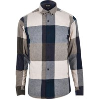 Only And Sons River Island Mens Blue Large Check Shirt