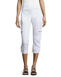 Xcvi Nadia Cropped Cargo Pants White
