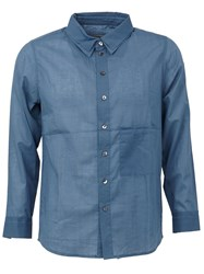 By Walid Patch Pocket Shirt Blue