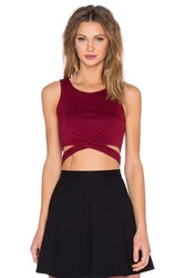Lovers Friends X Revolve Olympic Top Burgundy