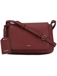 Donna Karan Small Flap Crossbody Bag Red
