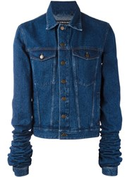 Y Project Extended Sleeve Denim Jacket Blue