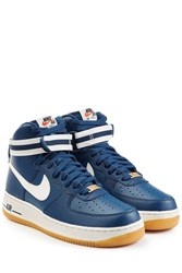 Nike Air Force 1 Mid 07 Leather High Top Sneakers Blue