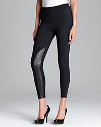 Tag Elemental Tag Leggings Moto Seamed Ponte With Quilted Pleather Leggings