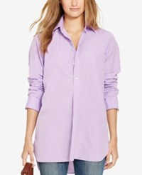 Polo Ralph Lauren Tunic Shirt Light Purple White