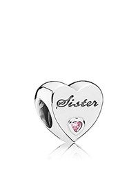 Pandora Design Charm Sterling Silver And Cubic Zirconia Sister's Love Moments Collection