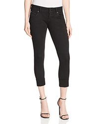 Hudson Ginny Rolled Crop Jeans In Black