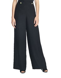 1.State Flat Front Wide Leg Pants Black