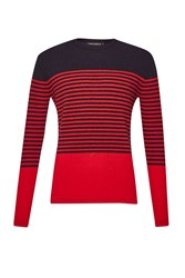 French Connection Men's Turner Stripe Knit Sweater Blue
