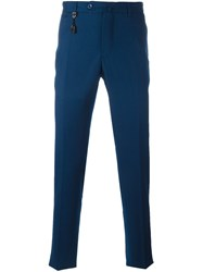 Incotex Slim Fit Tailored Trousers Blue