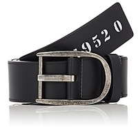 Givenchy Men's Bordered Leather Belt Black Blue Black Blue
