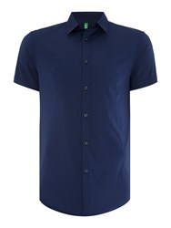 United Colors Of Benetton Short Sleeve Classic Shirt Navy