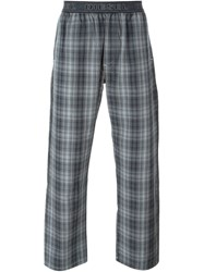 Diesel Check Print Pyjama Trousers Grey