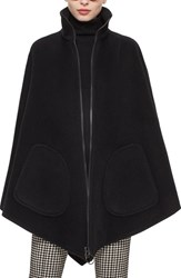 Women's Akris Punto Wool And Cashmere Triangle Cape