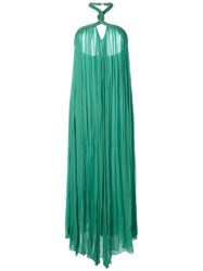 Jay Ahr Halterneck Evening Gown Green