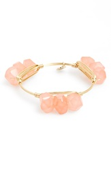 Bourbon And Boweties Medium Stone Triple Stack Bracelet Coral