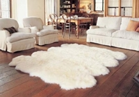 Amazon.Com Genuine Sheepskin Rug Eight Pelt Ivory White Fur Approx. 6Ft X 7Ft Octo