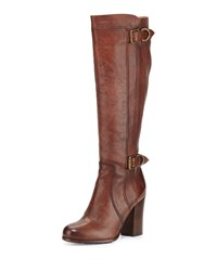 Parker D Ring Tall Leather Boot Copper Frye Brown