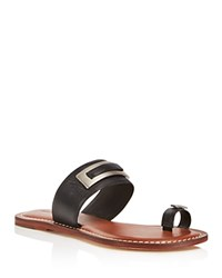 Bernardo Molly Toe Ring Flat Sandals Black