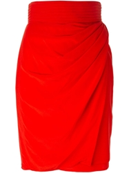 Versace Vintage Draped Pencil Skirt
