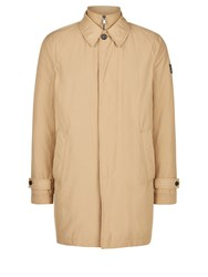 Aquascutum London Kirkman Zip Front Single Breasted Trench Beige