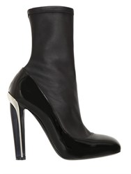 Alexander Mcqueen 130Mm Stretch Leather Boots