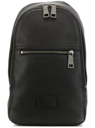 Coach Zipped Backpack Black