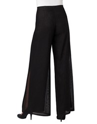 Js Collections Mesh Wide Leg Dress Pants Black