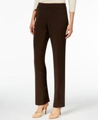 Jm Collection Pull On Wide Leg Pants Only At Macy's Espresso Roast