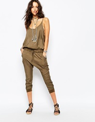 One Teaspoon Silk Road Jumpsuit Khaki