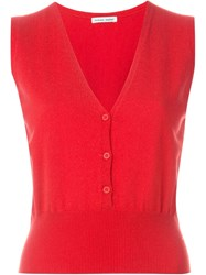 Tomas Maier Knit Gilet Red