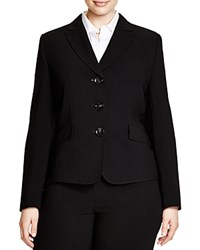 Basler Plus Pleated Back Blazer Black