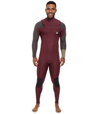 Billabong 302 Revolution Tribong Short Sleeve Chest Zip Wetsuit Blood Men's Wetsuits One Piece Red