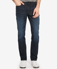 Kenneth Cole New York Men's Stretch Denim Dark Indigo Wash Jeans