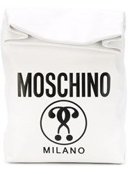 Moschino Double Question Mark Print Lunch Tote