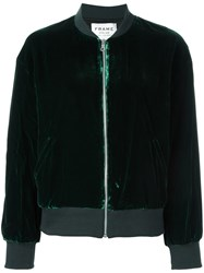 Frame Denim Classic Bomber Jacket Green