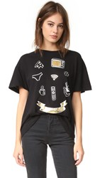 Wildfox Couture Nothing Club Tee Clean Black