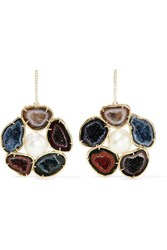 Kimberly Mcdonald 18 Karat Gold Multi Stone Earrings
