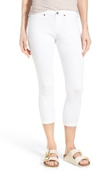 Hue Women's 'Super Smooth' Denim Capris White
