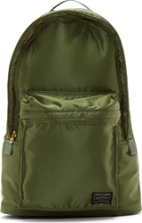 Porter Olive Green Small Tanker Backpack