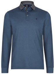 Hackett London Marl Tip Long Sleeve Polo Dark Green