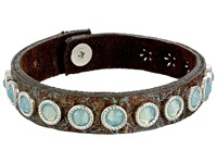 Leather Rock B597 Patina Bracelet Brown