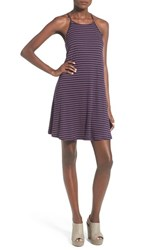 Love Fire Women's Stripe Halter Swing Dress