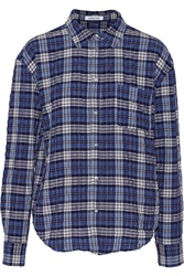 Elizabeth And James Carine Checked Woven Shirt Blue