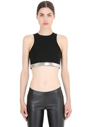 Thierry Mugler Cropped Halter Neck Stretch Cady Top