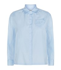 Max Mara Maxmara Weekend Boxy Crop Shirt Female Blue