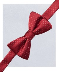 Alfani Spectrum Alex Pindot Pre Tied Bow Tie And Pocket Square Set Only At Macy's Red