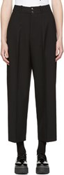 Mcq By Alexander Mcqueen Black High Rise Trousers