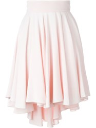 Antonio Berardi Flared Fishtail Skirt Pink And Purple